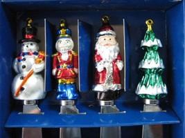 Boston Warehouse Christmas Spreader Set 4 Boxed Santa Tree MIB Canapes H... - $10.00