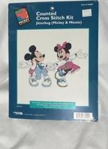 Disney Counted Cross Stitch Kit Mickey & Minnie Mouse JITTERBUG 36009 Co... - $9.49