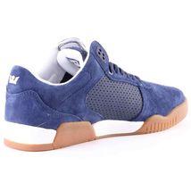 Supra Mens Navy Leather Suede Gum Ellington Lo Top Skateboard Shoes Sneakers NIB image 4