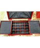 Lori Greiner Cherry Wood Jewelry Box Organizer -For Your Ease Only Excel... - $54.69