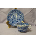 Copeland Spode's Blue Italian Footed Cup and Saucer England - $15.00