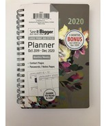 See it Bigger Oct 2019 to Dec 2020 Monthly Weekly Planner Agenda Flowers... - $19.79