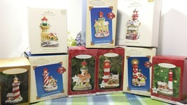 Hallmark Lighthouse Greetings ornaments lot of 9 - $89.77