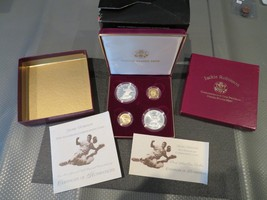 1997 JACKIE ROBINSON & GOLD & SILVER (4) COIN  SET-FREE SHIPPING - $2,326.50