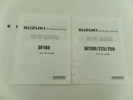 Suzuki Outboard Motor DF200/225/250'04 DF140'02 Set-Up Manual Booklet New Lot 4 - $9.99