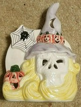 Ceramic Candle Vintage Halloween Holder Pumpkin Lantern Votive Ghost Jac... - £18.96 GBP