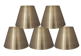 Urbanest 3-inch by 6-inch by 5-inch Metal Chandelier Lamp Shade, Set of 5, Antiq - $49.49