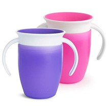Munchkin Miracle 360 Trainer Cup, Pink/Purple, 7 oz, 2 Count - $11.18
