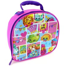 SHOPKINS Cookie, Apple & Strawberry Kiss PVC &Lead-Free Insulated Lunch ... - $14.84