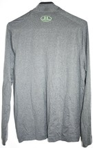 Under Armour Men's Loose Cold Gear 1/4 Zip Grey & Green Long Sleeve Shirt SM image 2