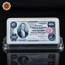 WR $100 1891 Silver Certificate Note US Dollar 999 Silver Clad Bar Gifts... - $4.99