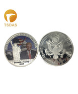 Donald Trump Round Metal Coins US 45th President America Commemorative ... - €4,83 EUR