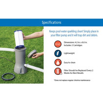 """Mainstays Size 4.2"""" x 8"""" Type III A/C Pool Filter Cartridge - 2 ct image 5"""