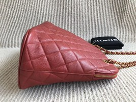 100% Authentic Chanel Vintage Red Quilted Caviar Classic Tote Bag GHW image 6
