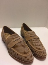Vince Camuto 8 1/2 Women's Shoes Brown Slip On Loafers Eyelet Mesh Tan Leather - $23.36