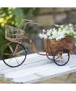 Farmhouse DELIVERY TRIKE PLANTER Country Primitive Garden Flower Pot Rustic - $61.99