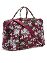 Vera Bradley Signature Cotton Iconic Weekender Bag, Bordeaux Blooms