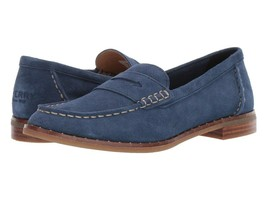 Sperry Top-Sider Seaport Penny Stud Suede Loafer, Shoes Navy, 7 - $74.24