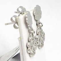 DROP EARRINGS 925 SILVER, FOUR-LEAF CLOVER PIATTI, ZIRCON, BY MARY JANE IELPO image 2