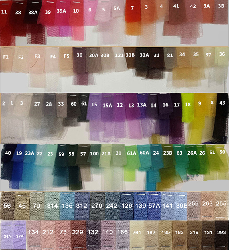 Jian color chart 1117