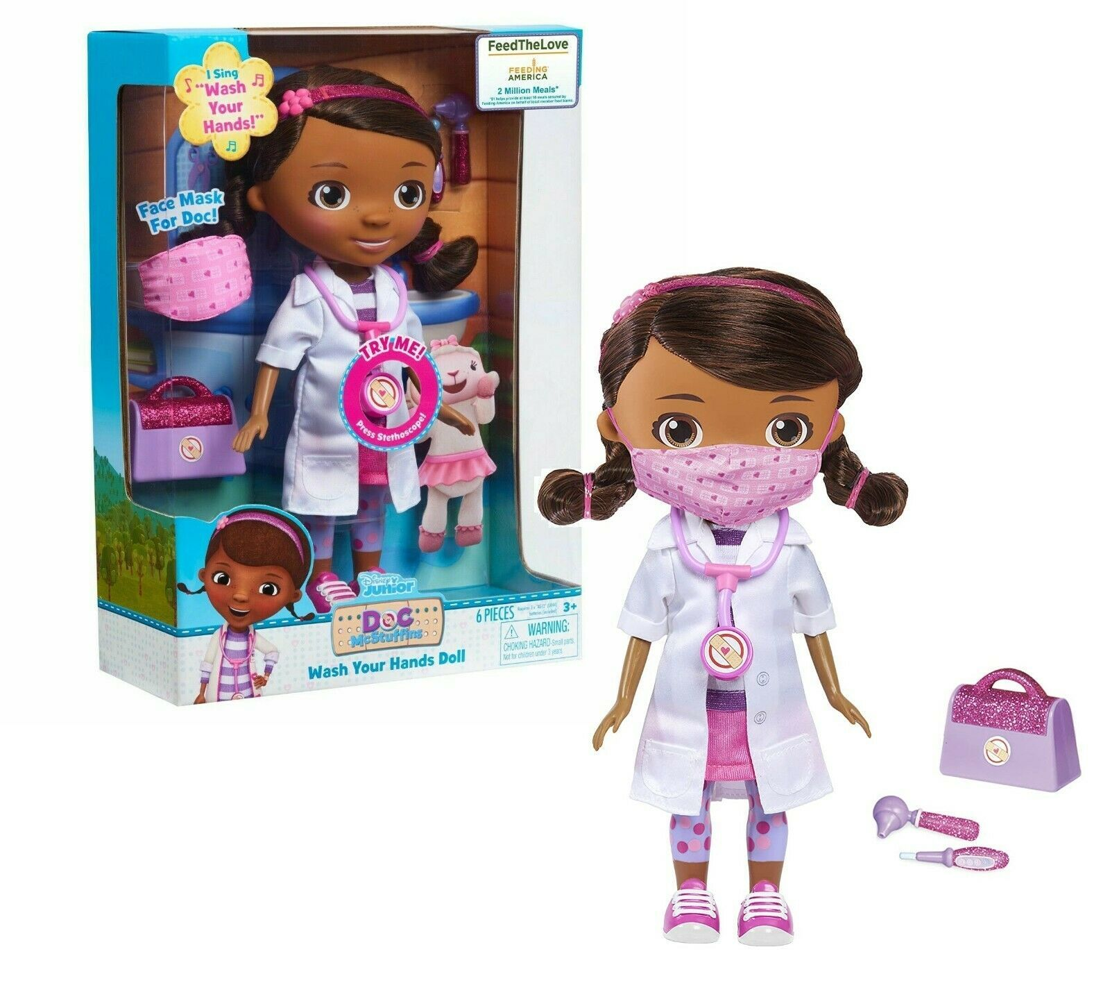 New Disney Junior Doc McStuffins Wash Your Hands Singing Doll with Mask For Doc - $29.99