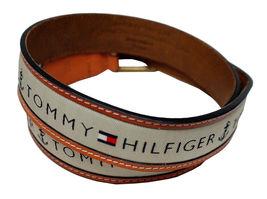 Tommy Hilfiger Men's Premium Ribbon Inlay Anchor Logo Leather Belt 11TL02X032 image 5
