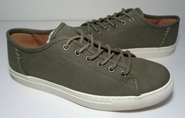 Frye Size 9.5 M JUSTIN LOW LACE Olive Canvas Fashion Sneakers New Men's ... - $117.81