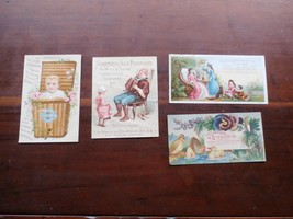 4 VICTORIAN CARDS AYER'S SARSAPARILLA,DR.GROSVENOR'S LIVERAID,HORSFORD'S... - $8.90