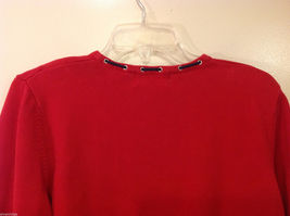 Alfred Dunner Red 3/4 Sleeve Sweater USA Flag Imitation, Size M, 100% cotton image 7