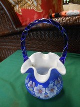 Beautiful Fenton Basket The Glass Legacy Collection 95th Year-Signed Bill Fenton - $88.69