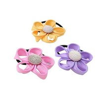 Set of 12 Stylish Flora Pattern Ponytail Holders Hair Elastics Hair Bands