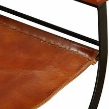 vidaXL 1/2x Folding Chair Genuine Real Leather Kitchen Dinner Dining Room Seat image 10