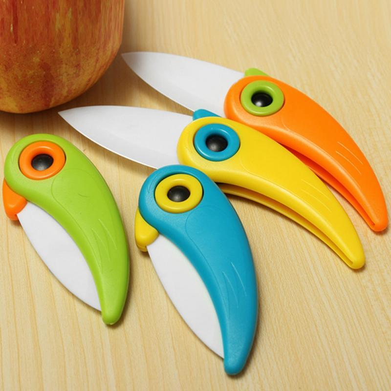 Ceramic Fruit Knife | Paring Knife | Bird Design Kitchen Colorful Paring Knife