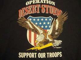 Vintage new NOS Operation Desert Storn military support troops RARE T Sh... - $18.75