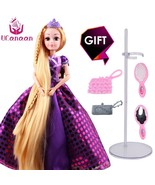 Sweet Princess Doll Rapunzel Toys For Girls Moving Body Beauty Blonde Ha... - $15.99