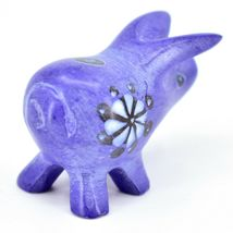 Tabaka Chigware Hand Carved Kisii Soapstone Blue Pig Miniature Mini Figurine image 5