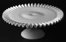 Fenton Hobnail Milk Glass Pedestal  Cake Plate ... - $88.81