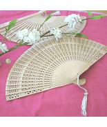 120 Sandalwood Fan Bridal Shower Wedding Favors Asian Summer Beach Theme - €81,38 EUR