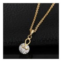 Water-drop Pendant 18K Gold Platinum Galvanized Austrian Zircon   yellow - $9.89