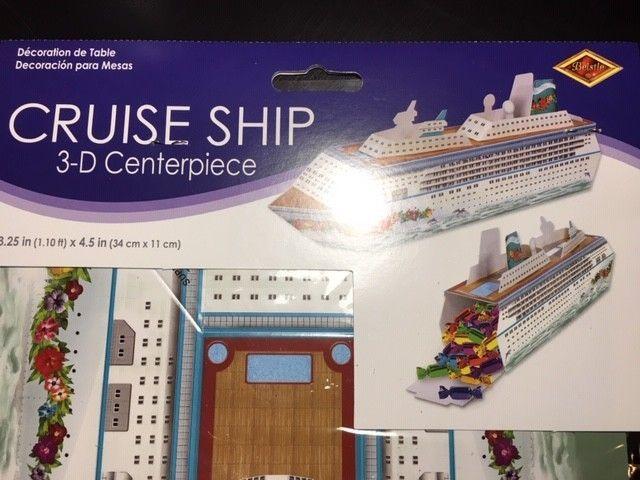 """Cruise Ship Centerpiece, 13-1/4"""", Multicolor - Beistle 54436"""