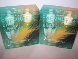 2 Bath & Body Works Coconut Lime Breeze Wallflower Refill Bulbs 2 Pack - $26.99