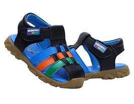 Boy's Closed Toe Beach Sandals Breathable Summer Shoes BLACK, Feet Length 13CM