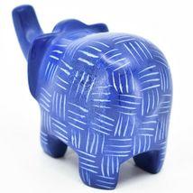 Vaneal Group Hand Crafted Carved Soapstone Blue Elephant Figurine Made Kenya image 3