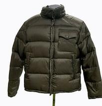Lincs DC & Co Down Puffer Zip Snap Front Coat Jacket Size L Brown - $55.19