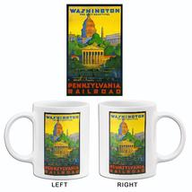 1935 Washington DC - Pennsylvania Railroad - Travel Advertising Mug - $23.99+