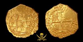 PERU 1698 CUZCO 2 ESCUDOS 1715 FLEET PIRATE GOLD COINS SHIPWRECK TREASURE - $14,850.00