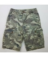 AMERICAN EAGLE OUTFITTERS CAMO FLAT POCKET CARGO SHORT SIZE 28 28 X 12 - $33.24