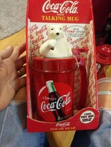 Coca Cola Talking Mug Polar Bear Top New In Package - $24.70