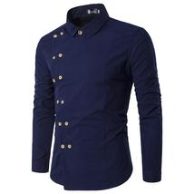 2018 New Spring Autumn Men's Personality Oblique Double Breasted Button ... - $34.11