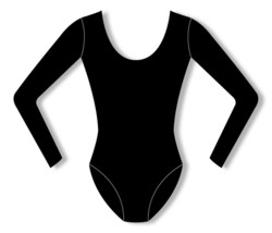 Bloch CL5409 Girl's Size 14 (Extra Large) Black Cotton Long Sleeve Leotard - $14.84